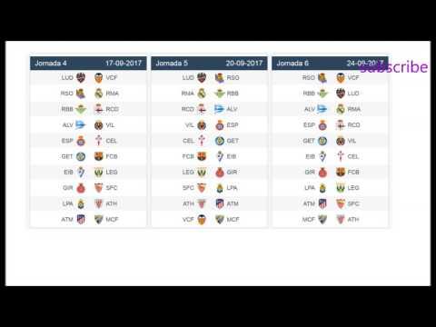Football. La liga   spanish league   schedule season 2017/2018
