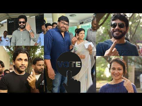 Telangana Elections 2018: Celebs cast their votes   Chiranjeevi, Allu Arjun, Jr NTR