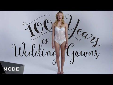 100 Jahre Modegeschichte Brautmode Youtube