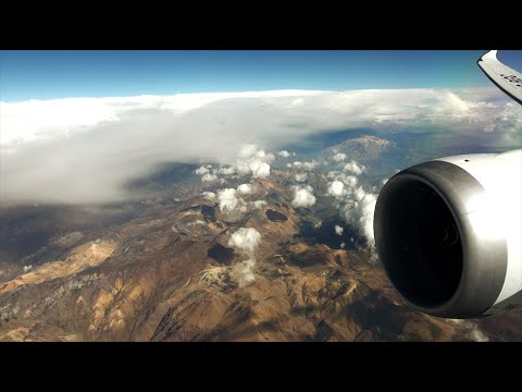 LAN Boeing 787-9 Dreamliner - over the Andes, Cote DAzur and Alps - from Santiago to Milano