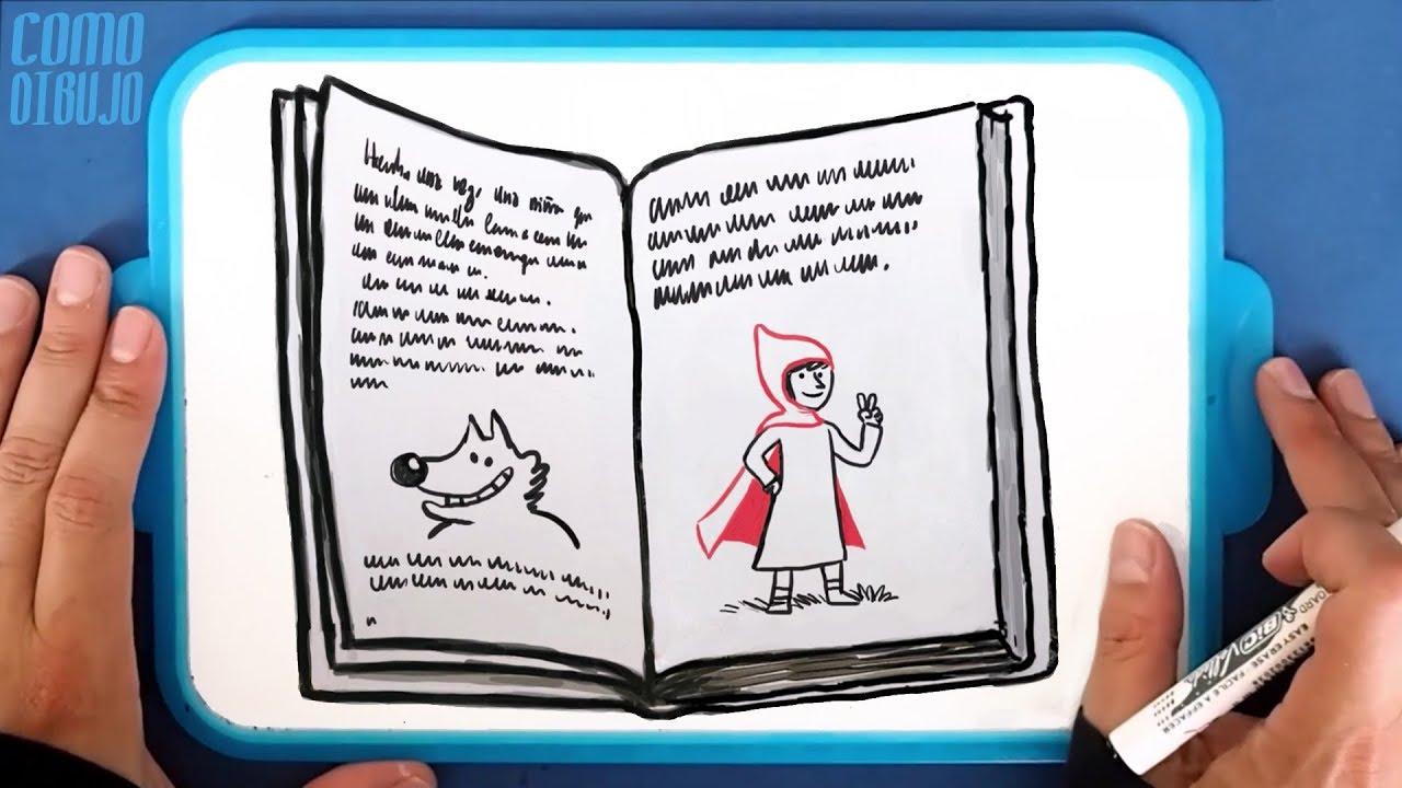 Como Dibujar un Libro de Caperucita Roja y el Lobo Feroz