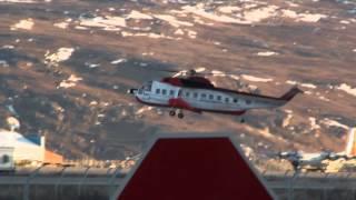 Sikorsky S-61 Landing @ Kangerlussuaq Greenland