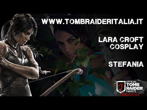 Cosplayer di Lara Croft al Bra Comics and Games 2014