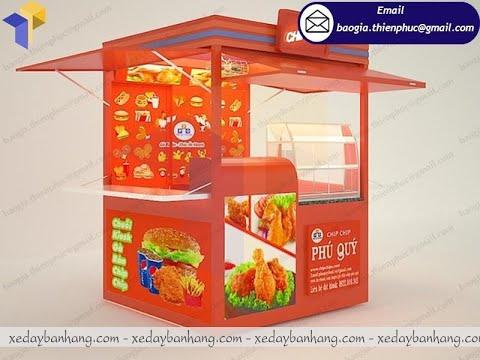 Kiot bán gà rán PHÚ QUÝ thiết kế ấn tượng bắt mắt