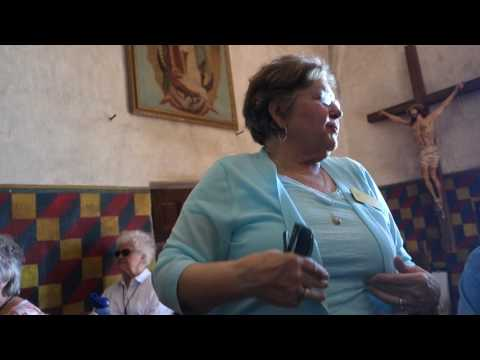 Tour Guide describes inside of San Xavier Mission