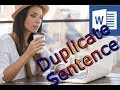 Duplicate Sentence Detector in MS Word| Microsoft Word: How To Highlight Text In Word Document easy