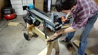 Electric log splitter stand
