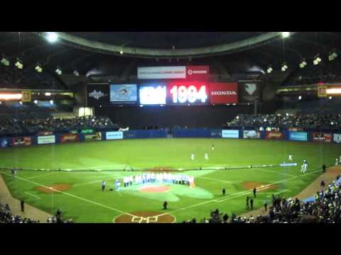 1994 Montreal  Expos 20 Year Celebration. 03/29/2014 Olympic Stadium.