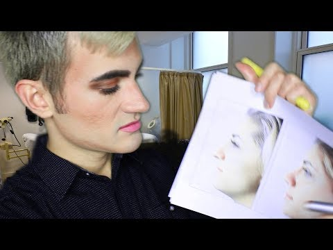Preparing Your Face Before Plastic Surgery ASMR ROLEPLAY: marking, explanations