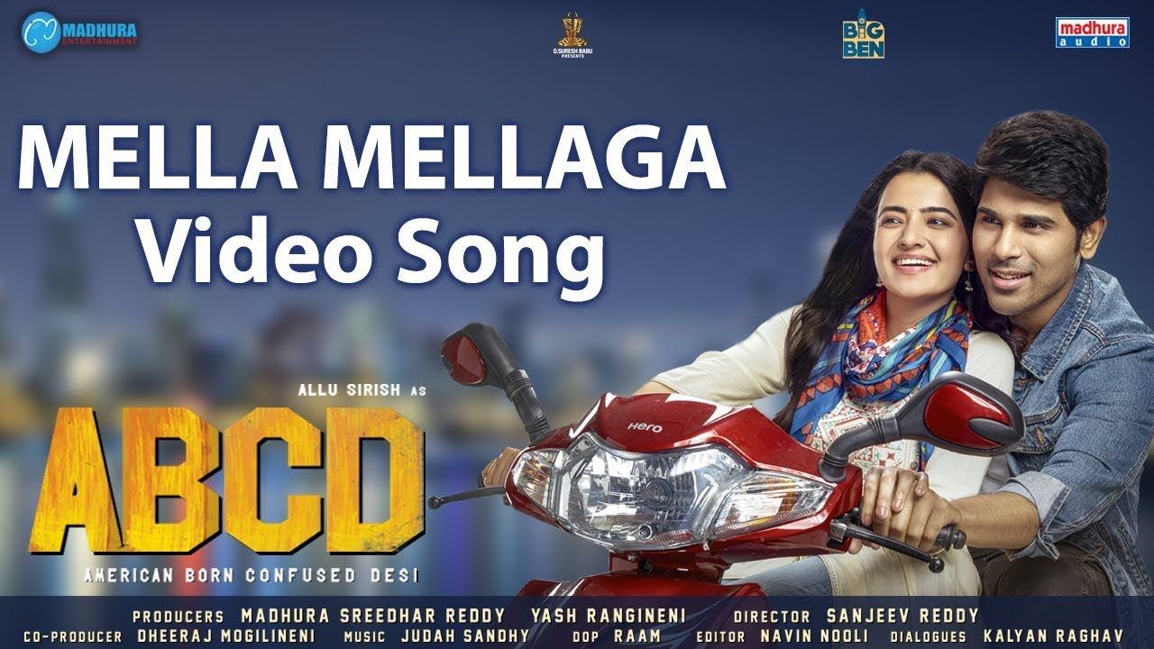 Mella Mellaga Video Song | ABCD Movie Songs | Allu Sirish | Rukshar Dhillon | Sid Sriram | Judah S