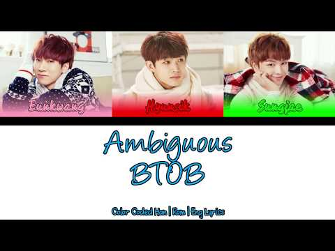 BTOB (Eunkwang, Hyunsik, Sungjae)  - Ambiguous (알듯 말듯해) [썀마이웨이 OST] [Color Coded Han|Rom[Eng Lyrics]