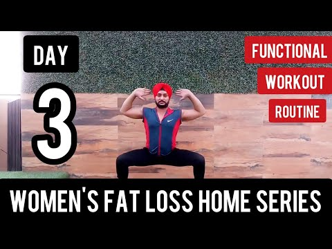 | DAY 3 | Women's FAT LOSS Home Series in Hindi by Fitness Gusto