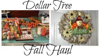 DOLLAR TREE FALL HAUL