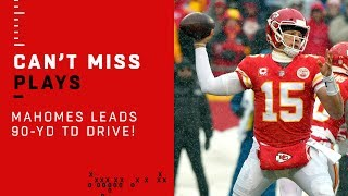 Patrick Mahomes' 1st Career Playoff TD Drive Goes 90 Yards!