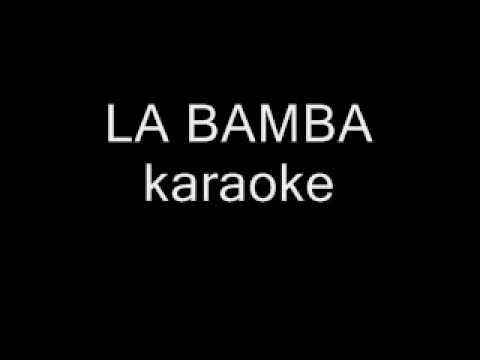 LA BAMBA karaoke backing track instrumental No Lyrics