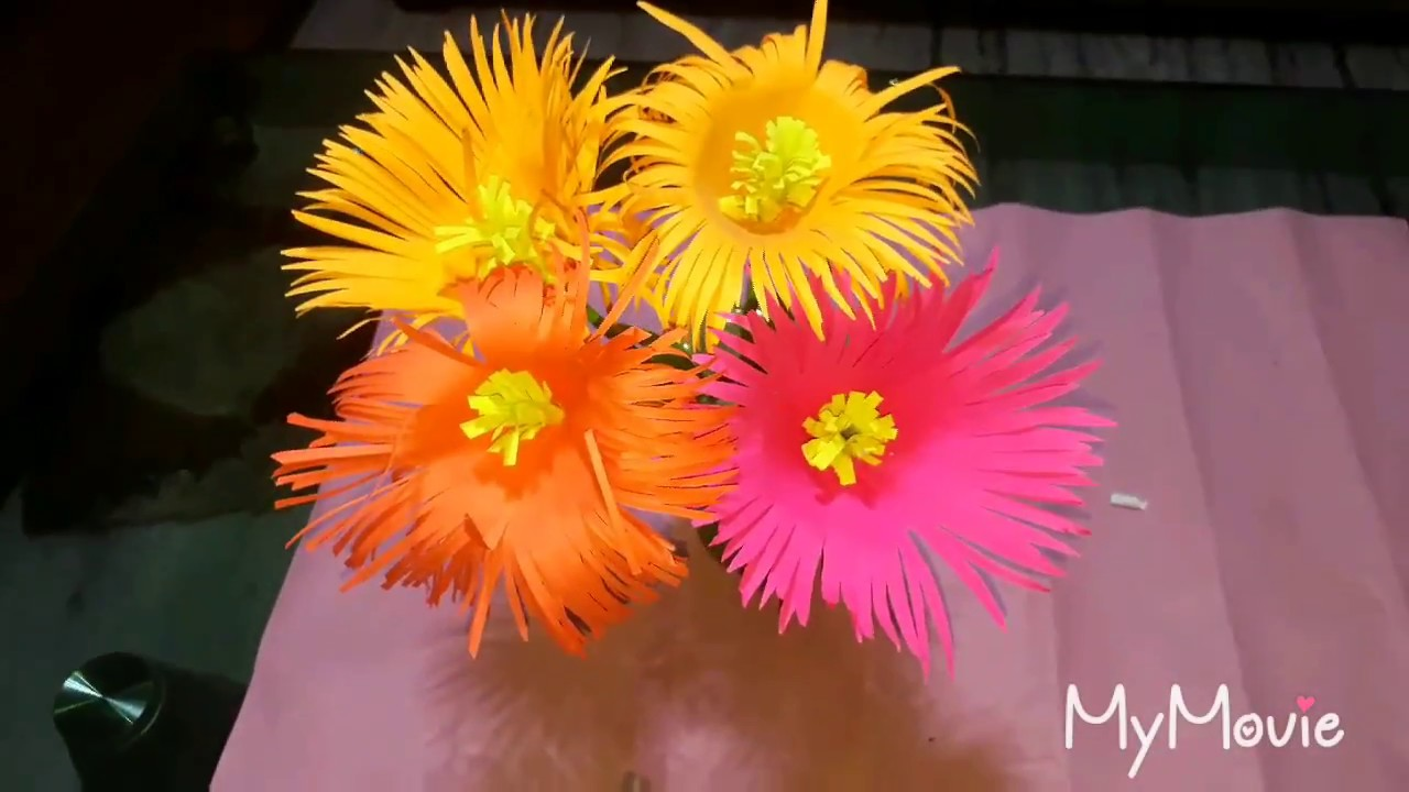 how to make big paper flowers video