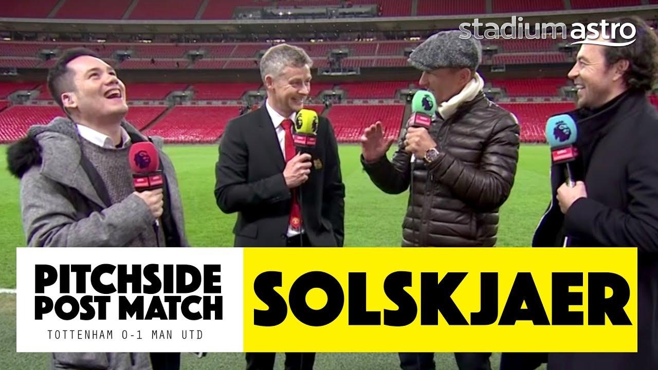 PITCHSIDE: Solskjaer post match reaction | Tottenham 0 - 1 Man United | Astro SuperSport