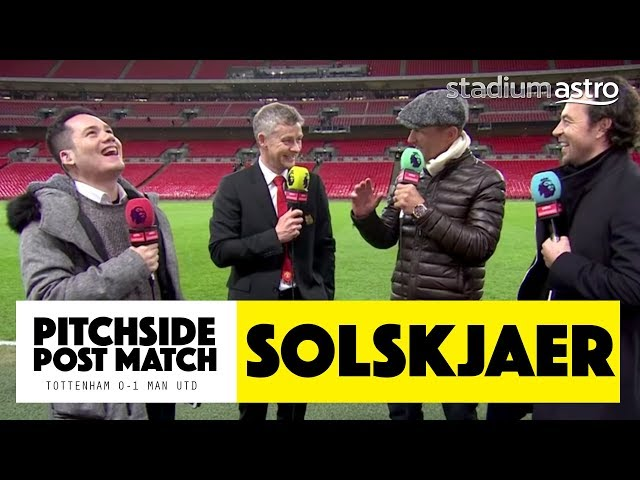 PITCHSIDE: Solskjaer post match reaction | Tottenham 0 - 1 Man United | Astro SuperSport