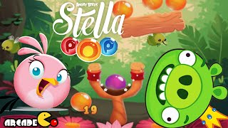 Angry Birds Stella POP! Smashing Down Bad Piggies!