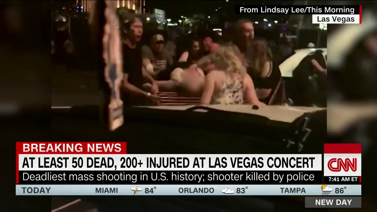 Aftermath of Las Vegas mass shooting