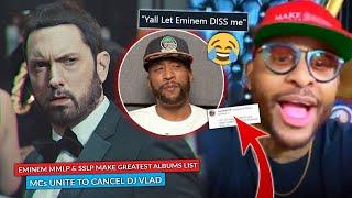 Eminem's SSLP & MMLP Make Greatest List, Vlad's Associates Turn On Him, Royce, Crook, Budden React
