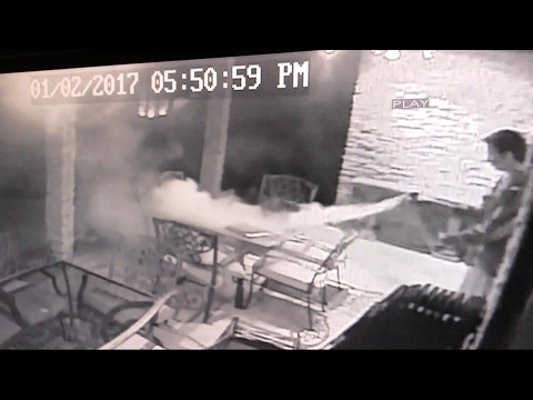 Charging Laptop Bursts Into Flames Caught on Tape | ABC News