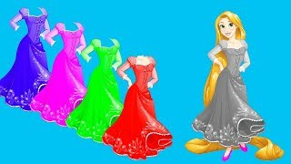 Learn Colors with Disney Princess Rapunzel Dress Up for Children