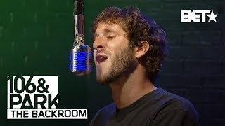 Lil Dicky goes hard in the 106 & Park Backroom