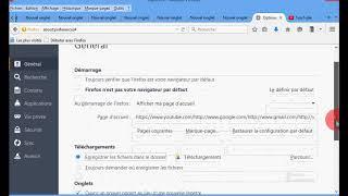 Firefox   la page d'accueil et le dossier de téléchargement des fichiers