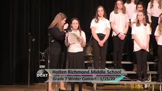 HRMS 7th Grade Winter Concert - 1/15/20