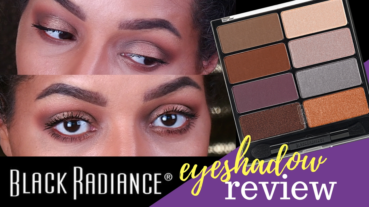 New Black Radiance Eyeshadow Palette Nude Attitude Eye Appeal Review Matte Shades Are On Point Youtube