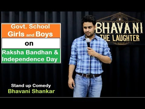 Govt. School Girls and Boys | Latest stand up comedy by Bhavani Shankar