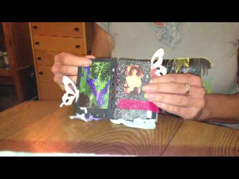 recycle mini book made with zutter binding