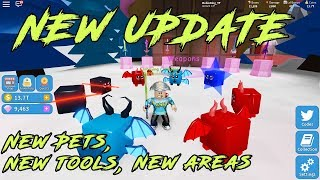 ROBLOX UNBOXING SIMULATOR NEW UPDATE | New pets, New tools, New areas