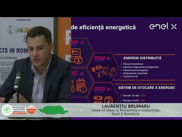 Laurențiu Brumaru Enel X România Digitalizare și Eficiență energetică – Timișoara