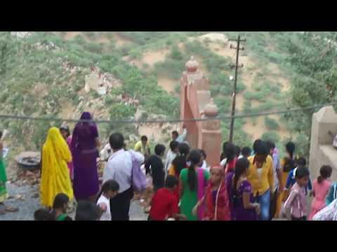 foreign tourist enjoying at savitri temple , pushkar, ajmer, rajasthan, india part - 1