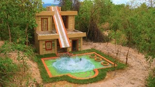 Build Water Slide To Swimming Pool On Three Story Villa House  : ( Full Video)