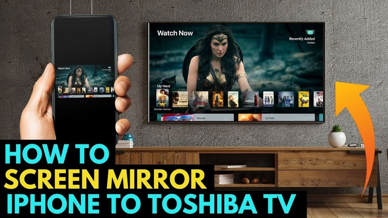 How To Screen Mirror Iphone To A Toshiba Tv Youtube