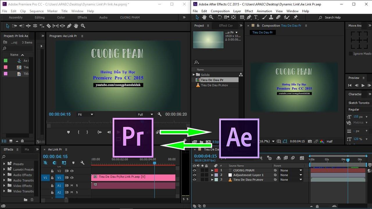 [Hướng dẫn] Bài 18: Dynamic Link Premiere Pro & After Effect CC 2015