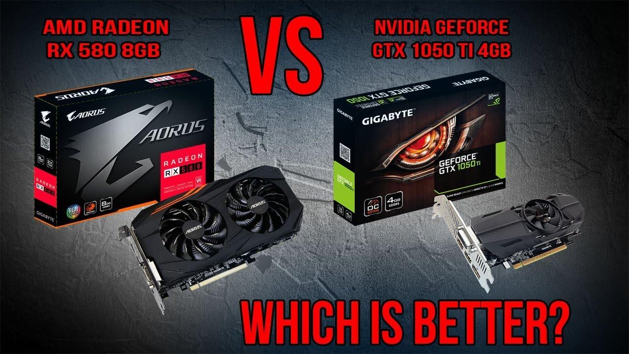 AMD RX 580 8GB vs Nvidia GTX 1050 Ti 4GB