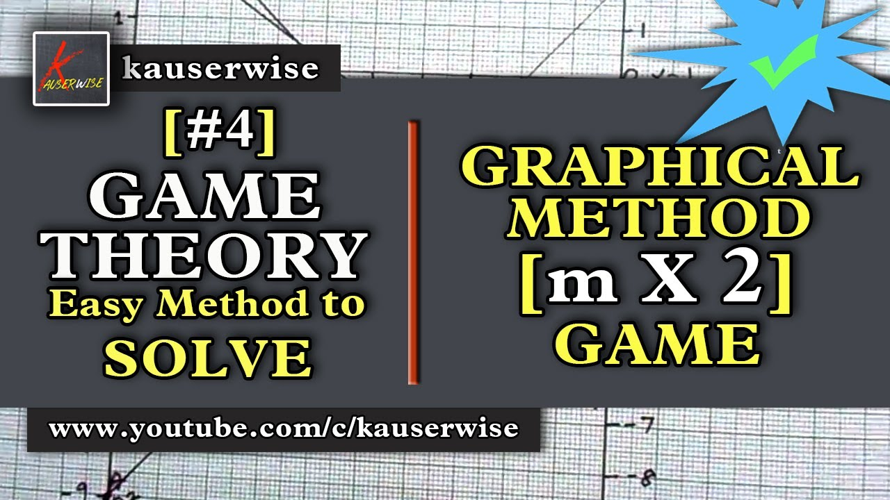 Game Theory 4graphical Methodm X 2gamein Operations Research