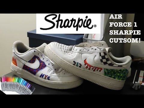 AIR FORCE 1 SHARPIE CUSTOM!