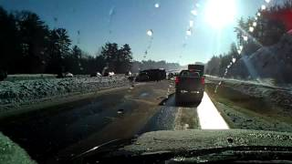 Dump Truck roll over Route 101 East in Raymond NH