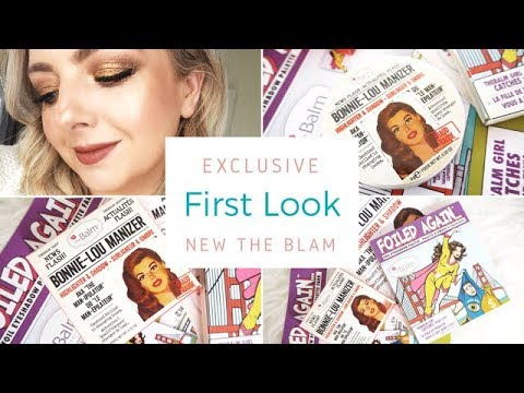 FIRST LOOK!!! EXCLUSIVE The Balm New Releases | Foiled Again Palette | Bonnie Lou Manizer