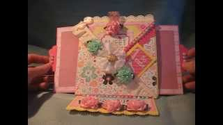Handmade Combination Criss Cross + Slider + Easel Greeting Card *free Tutorial Download & Videos