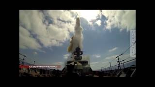 20.08.2016 Корабли Черноморского флота нанесли удар ракетами по террористам в Сирии