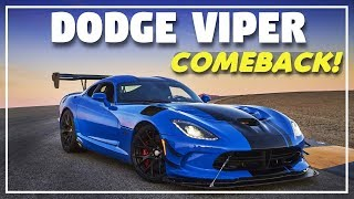 Legendary Dodge Viper Returns In 2021...But Without A V10?!