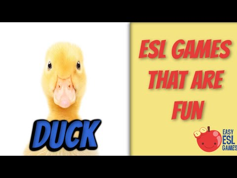 "How To Teach Body Related Vocabulary With The Game ""Duck""  - Easy ESL Games"