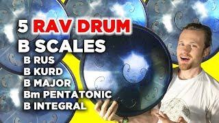 RAV Drum Comparison: B Kurd, B Major, B Minor Pentatonic, B Integral and B RUS