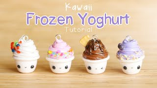 Kawaii Frozen Yoghurt│Polymer Clay Tutorial